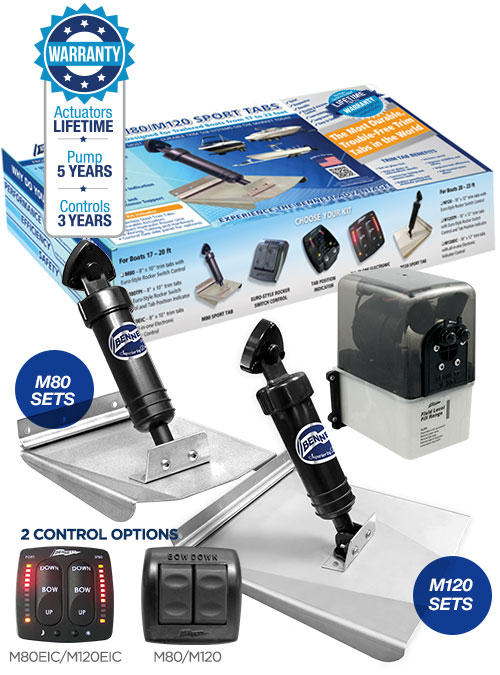 bennett m120 sport tab hydraulic trim tabs system with hpu. Black Bedroom Furniture Sets. Home Design Ideas