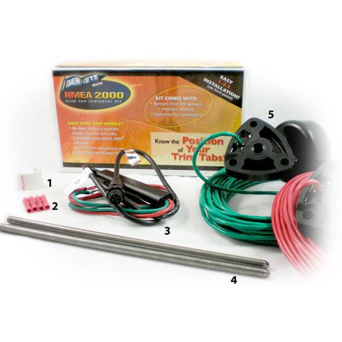 NMEA 2000 Indicator Kit HYDRAULIC SYSTEMS ONLY Bennett Marine – Lenco Trim Tab Wiring Diagram